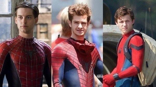 spiderman, peter parker, tom holland, toby mcguire, andrew garfield, marvel, spiderverse