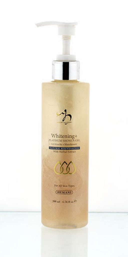 Hemani Herbals Whitening+ Platinum Shower Gel, hemani herbals
