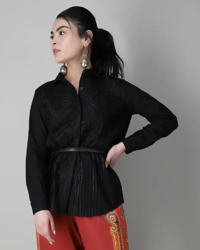 khaadi, western look, outfit, top, blouse, shirt, formal western clothing, affordable tops