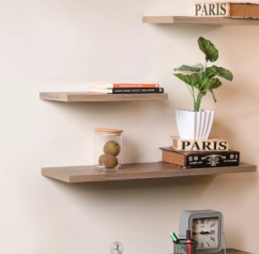 floating shelves, books, room decor, sale
