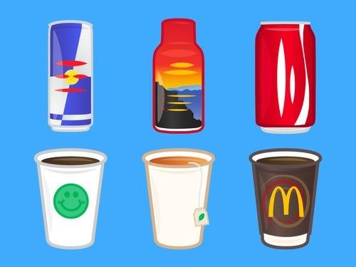 Drinks with caffeine
