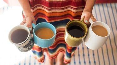 Coffee and tea with caffeine