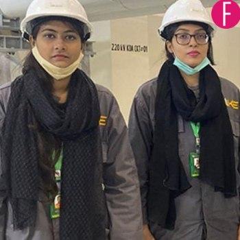 Pakistani female grid workers