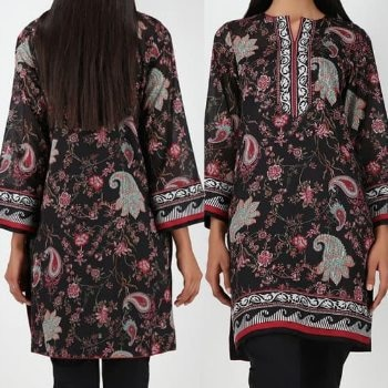 Kurtas, fashion, spring, summer, black, floral, prints