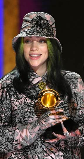 billie eilish wins record of the year, billie eilish at the grammy's