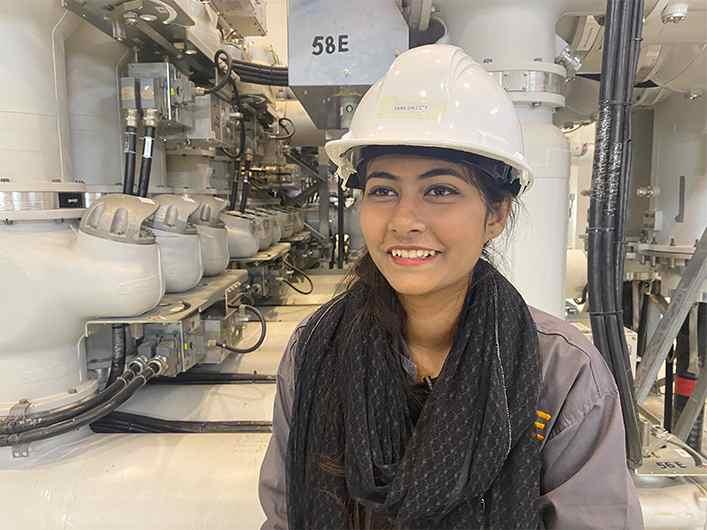 Saba Saleem Female Grid worker in Pakistan