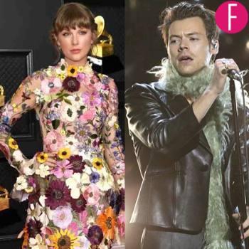 Hard To Miss Fashion Moments At The 63rd Grammy Awards, harry styles, dua lipa, taylor swift, gucci, oscar de la renta, versace, meghan thee stallion