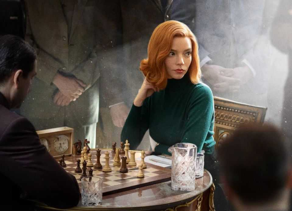 The Queen's Gambit, The Queen's Gambit on Netflix, Best TV Movie or Limited-Series winner Golden globes, Anya Taylor Joy as Beth in The Queen's Gambit