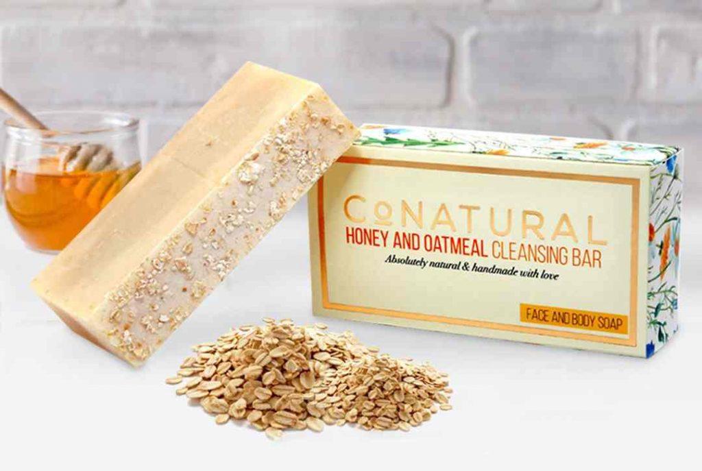 Honey & Oatmeal Cleansing Bar, honey mask, exfoliate, cleanser