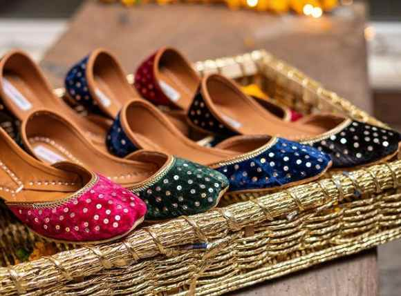 sequin, jottis, chappal, local art, local shoes