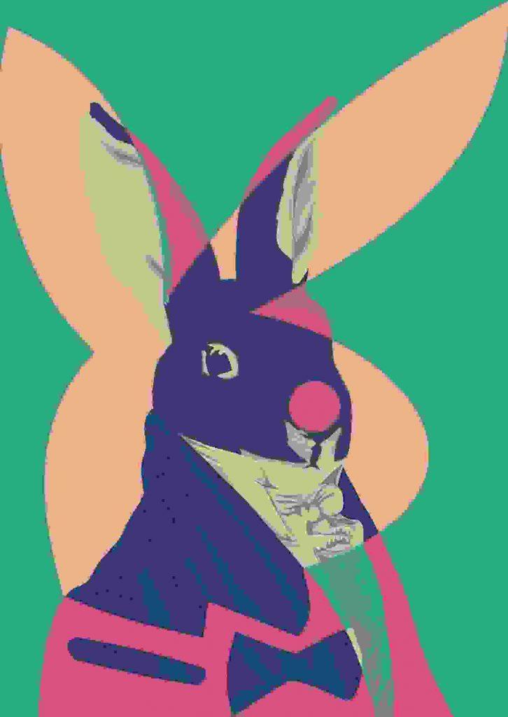 digital rabbit print, artwork