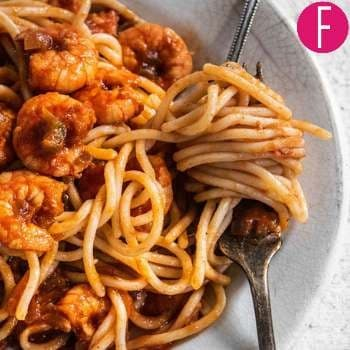Spicy pasta, garlic, chili flakes, shrimps, delicious, pasta, spaghetti, hot