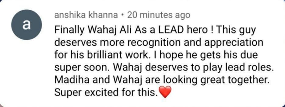 Wahaj Ali, New Drama, Geo Entertainment, Madiha Imam, Main hero, Youtube, Reactions, teaser