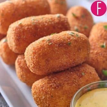 Chicken, potato, crispy, croquettes, Ramzan diaries, recipes, side dish, iftari