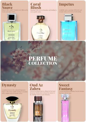 Hemani Herbals Perfume collection, herbal perfumes