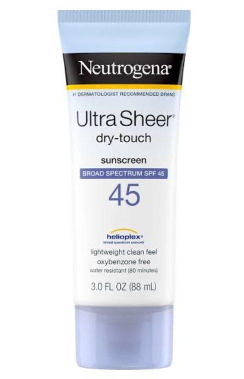Neutrogena Ultra Sheer sunblock, sunscreen, summers