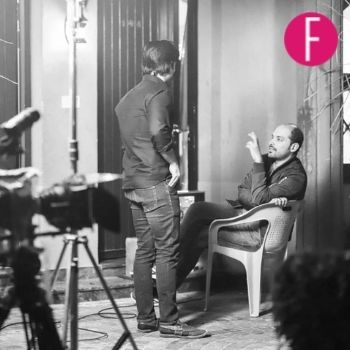 Wajahat Hussain on the set of KAM3