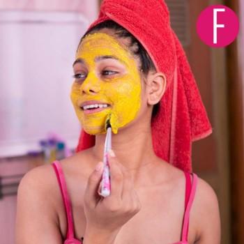 face mask, DIY, haldi besan mask for glowing skin