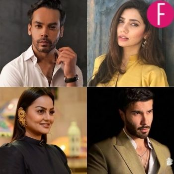 gohar rasheed, juvaria abbasi, feroze khan, mahira khan, actors of the week