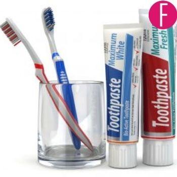 toothpaste, brush