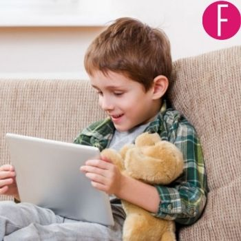 toddler, tablet